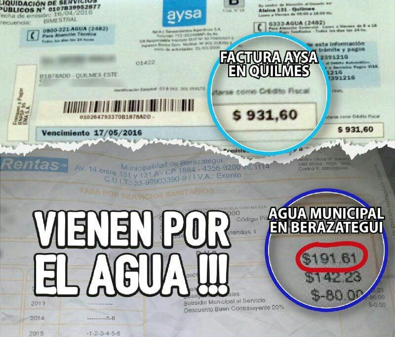 """Municipalidad de Berazategui: """"El agua es más barata en Berazategui porque es un servicio municipal que en los distritos que la prestataria es AySA o ABSA"""""""