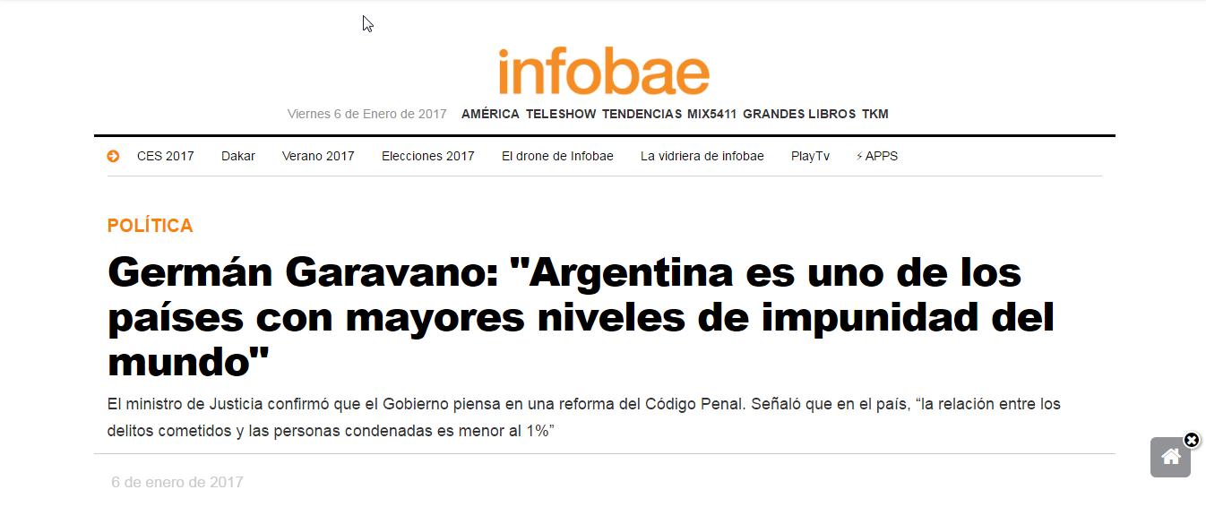 """Garavano: """"La relación entre los delitos cometidos y las personas condenadas es menor al 1%"""""""