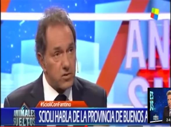 """Scioli: """"Desendeudé a la mitad la Provincia desde que había asumido"""""""