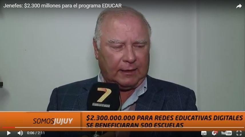 """Jenefes: """"$2.300 millones para el programa EDUCAR, redes educativas digitales"""""""