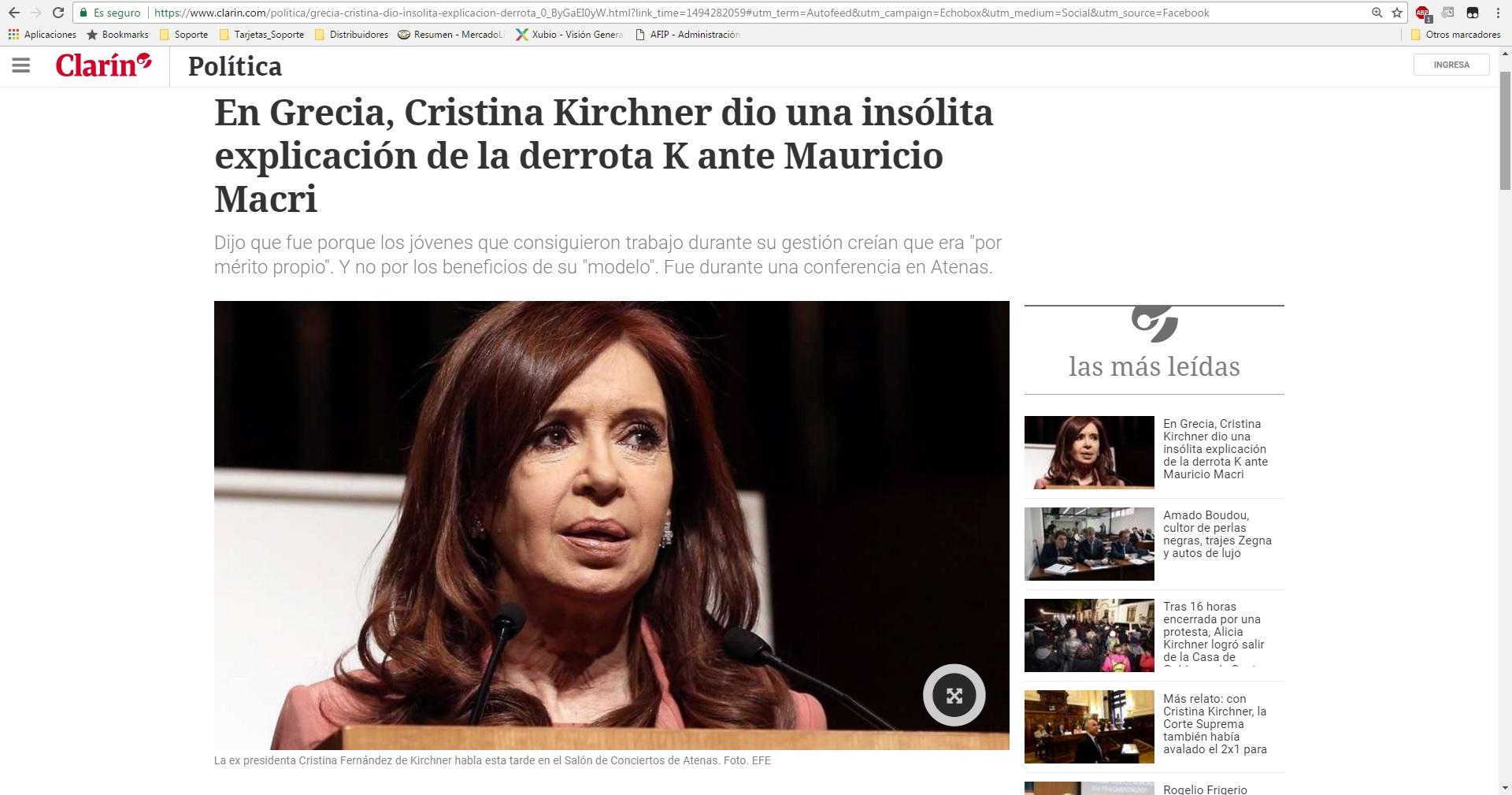"""CFK: """"Y esos jóvenes de veintipico que entraron a trabajar a las fábricas creyeron que era un mérito propio"""""""
