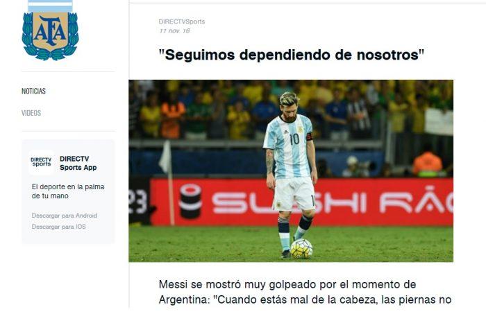 """Messi: """"Seguimos dependiendo de nosotros mismos"""""""
