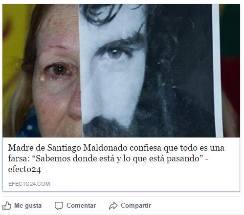 """Efecto 24: """"Madre de Santiago Maldonado confiesa que todo es una farsa: Sabemos dónde está y lo que está pasando"""""""