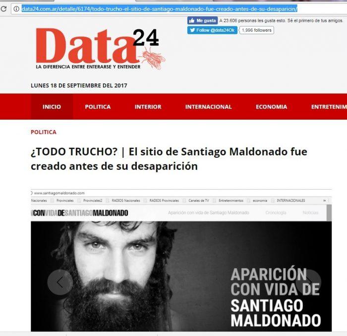"""Prensa Digital: """"El sitio de Santiago Maldonado fue creado antes de su desaparición"""""""