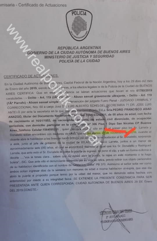 REAL POLITIK: Denunciaron penalmente a Rodríguez Larreta por tener sexo con menores de 6 años