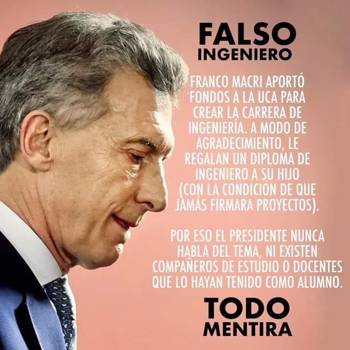 """Es falso que Macri es un """"ingeniero trucho"""" como dice un texto viral"""