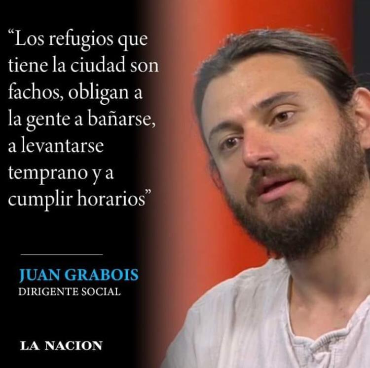 """No, Grabois no dijo que los refugios para personas sin techo de la Ciudad sean """"fachos"""""""