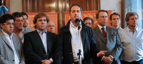 """Scioli: """"Se ha hecho una gran cantidad de obras en La Plata"""""""