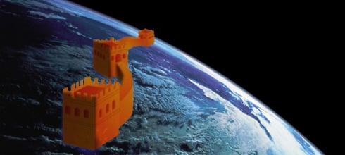 La Muralla China se ve desde la Luna