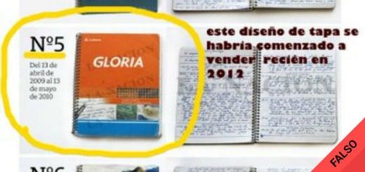 Es falso que uno de los cuadernos Gloria que investiga el juez Bonadio fue diseñado en 2012
