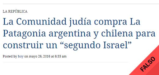 """Es falso que la comunidad judía compró tierras en la Patagonia para fundar un """"segundo Israel"""""""