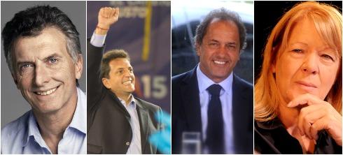 Los cuatro principales precandidatos presidenciales, chequeados