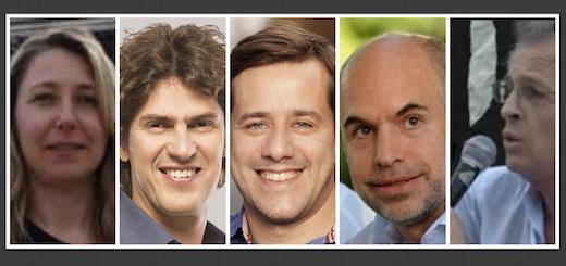 La carrera pública de los cinco candidatos porteños