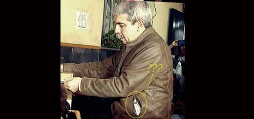 ¿Es real la foto de Aníbal Fernández robando boletas? No, es #FalsoEnLasRedes
