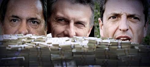 Conocé a los aportantes de las elecciones primarias declarados por Scioli, Macri y Massa
