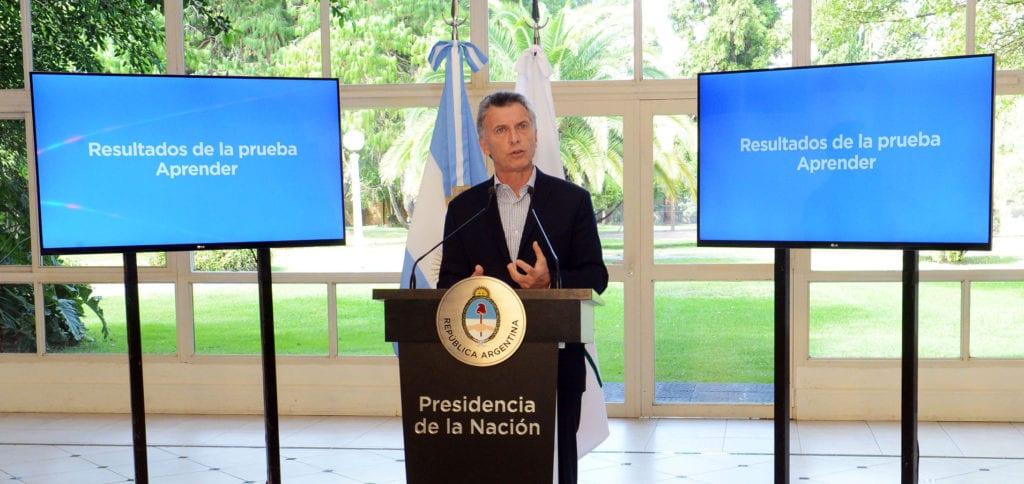 """Macri: """"Somos el único país que en diez años no mejoró en una sola materia [en las pruebas PISA]"""""""