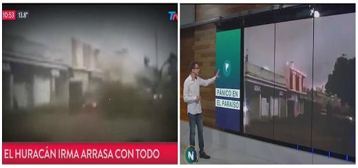 Publican un falso video del huracán Irma que en realidad es de Dolores, Uruguay