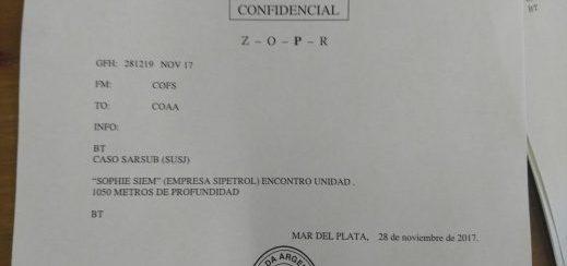 Es #FalsoEnLasRedes el supuesto mensaje de la Armada donde se afirma que se encontró el submarino ARA San Juan