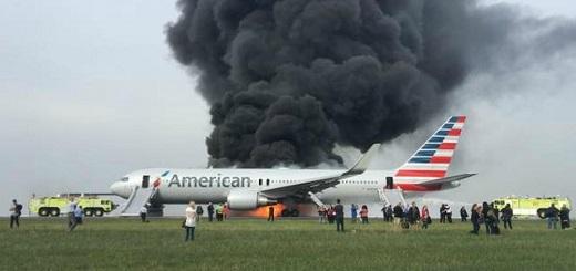 Es #FalsoEnLasRedes que ayer se incendió un avión en Chicago