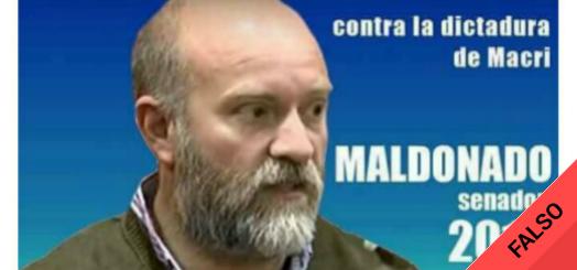 Es #FalsoEnLasRedes el aviso político de Sergio Maldonado como candidato a senador