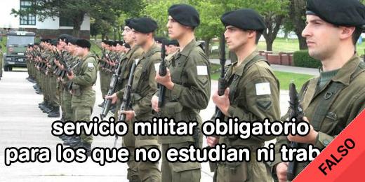 Es #FalsoEnLasRedes que el Gobierno propuso la vuelta del Servicio Militar Obligatorio en España o en Argentina