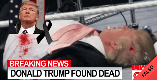 Es falso que Donald Trump fue abatido por espías sirios