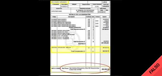 Es falso el supuesto recibo de sueldo de Máximo Kirchner de más de $550 mil