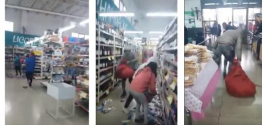 En redes sociales circula un video de un saqueo en Mendoza que es atribuido a distintos escenarios