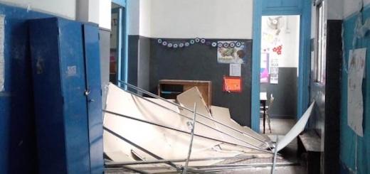 """Perspectiva Sur: """"Cayó parte de un techo en la Secundaria Nº 7: no hubo heridos de milagro"""""""