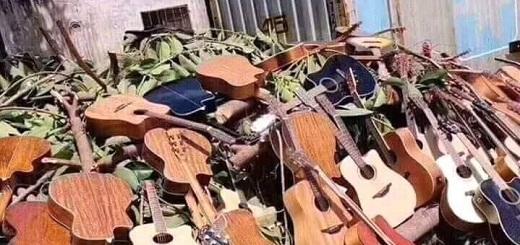 Es falso el posteo que muestra guitarras confiscadas a músicos callejeros en Buenos Aires