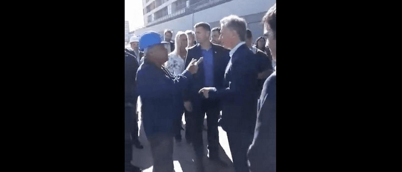 """No, el obrero que le reclamó a Macri que """"hagan algo"""" sobre la situación del país no fue suspendido"""