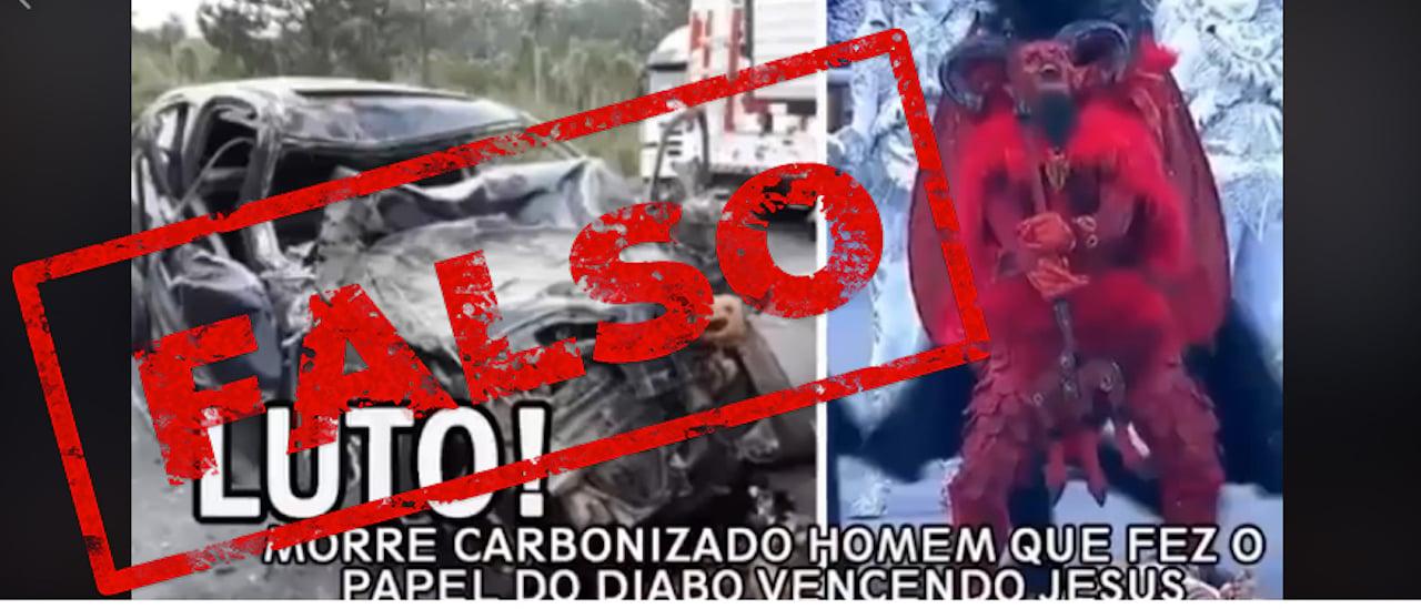 Es falso que un hombre murió quemado en Brasil después de interpretar al diablo