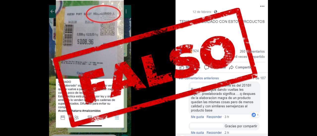 Son falsas las publicaciones que afirman que los quesos reelaborados son productos vencidos y que están prohibidos por ley