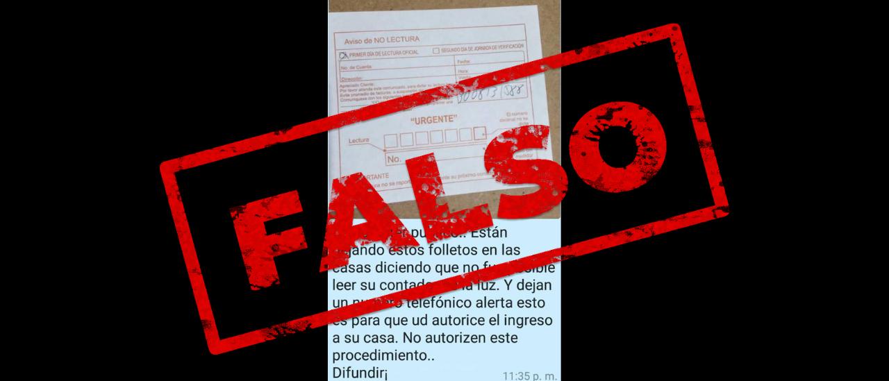 No, en la Argentina no se están repartiendo avisos de empresas eléctricas para ingresar a los domicilios