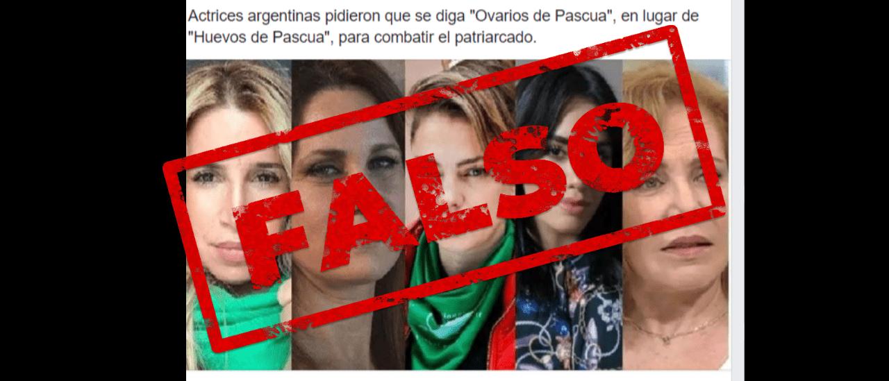 """No, el colectivo de Actrices Argentinas no pidió que se diga """"Ovarios de Pascua"""" en lugar de """"Huevos de Pascua"""""""