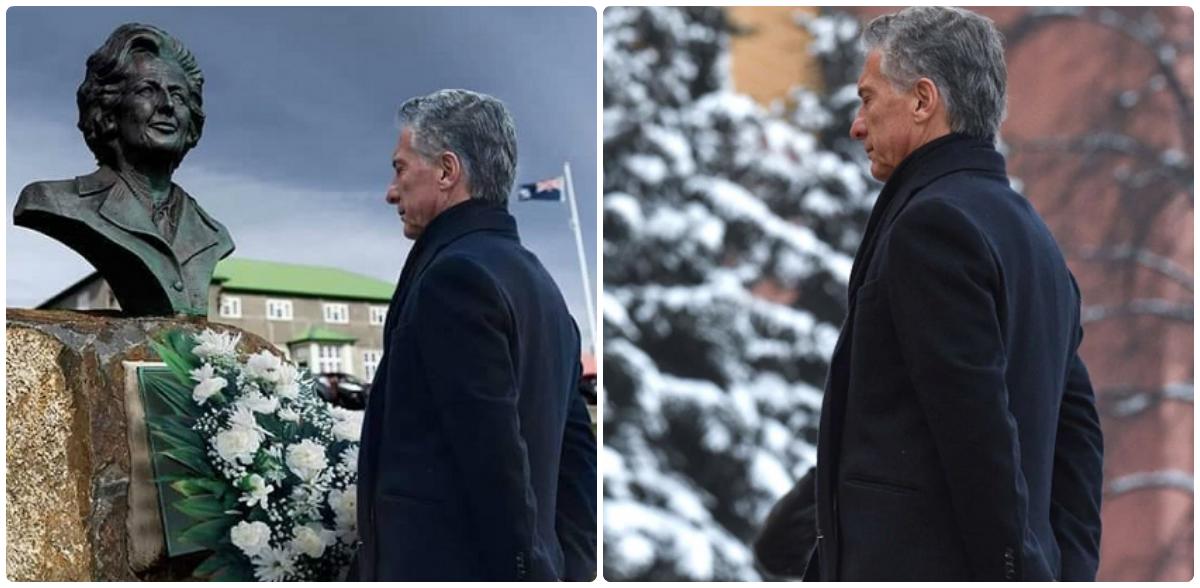El cazabobos del día, hoy: La falsa imagen de Macri junto al busto de Thatcher
