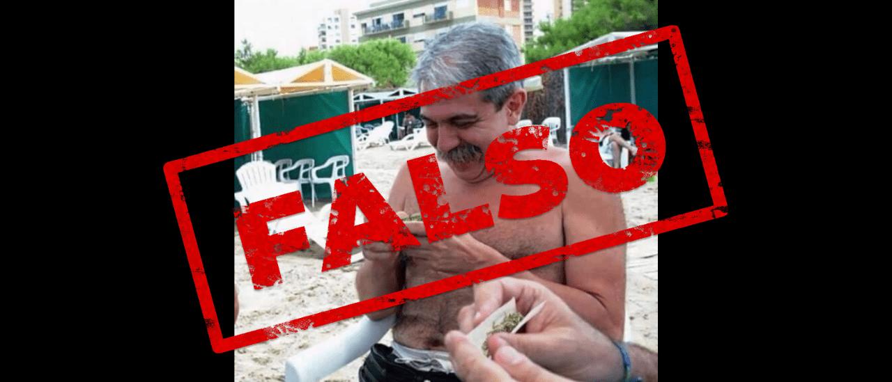 No, ni Alberto ni Aníbal Fernández fueron fotografiados armando un porro