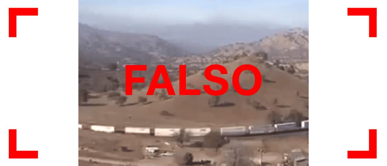 No, el video viral del tren que circula por una montaña no fue filmado en la Argentina sino en los Estados Unidos