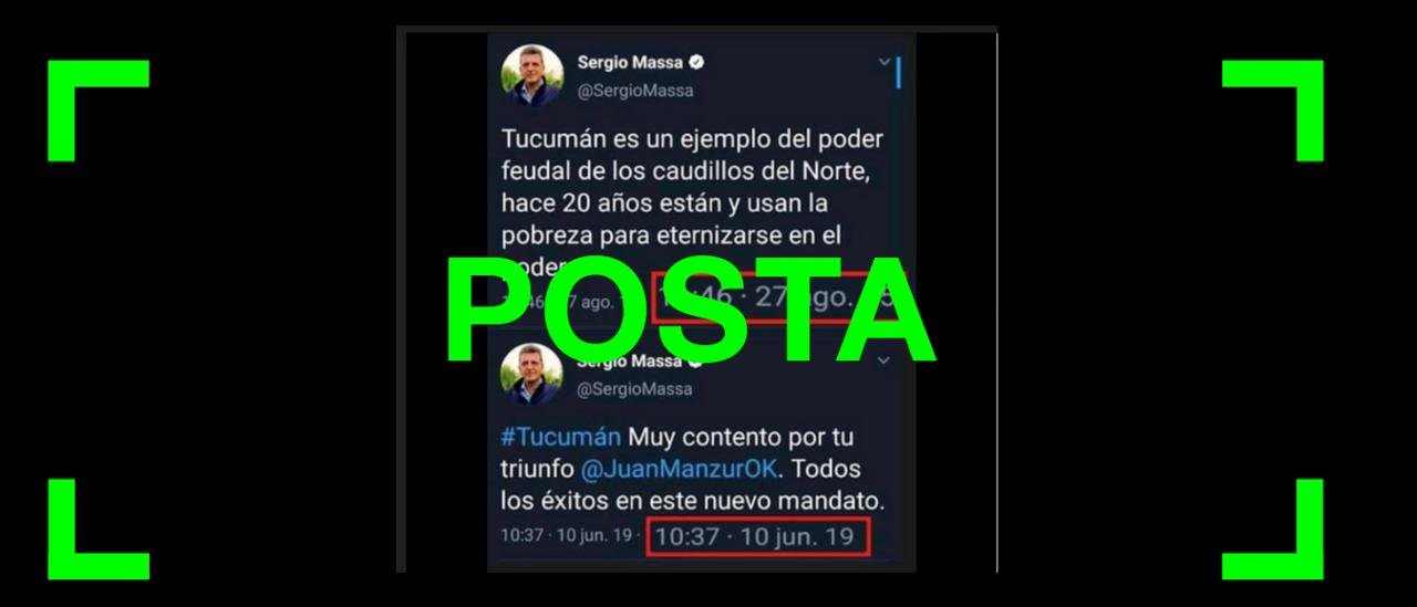 Son verdaderos los tuits de Massa sobre el triunfo de Manzur que circulan por redes