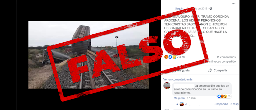 Es falso que el Belgrano Cargas descarriló debido a un sabotaje de los Moyano