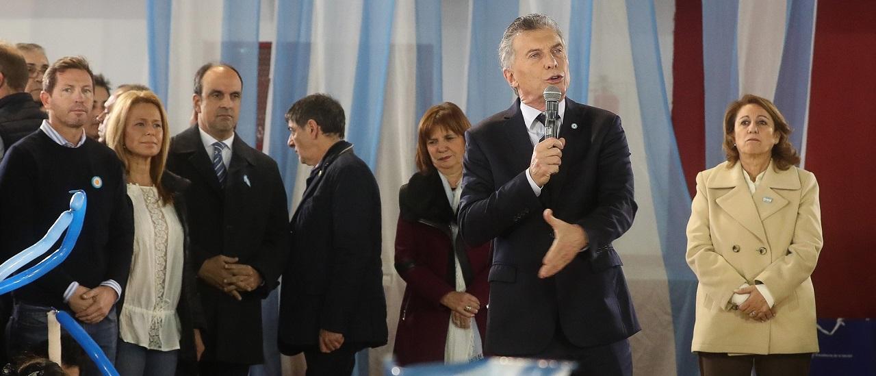 """Macri: """"Llevamos más de 85 mil detenidos por narcotráfico, 67 delincuentes detenidos por día desde que somos gobierno"""""""