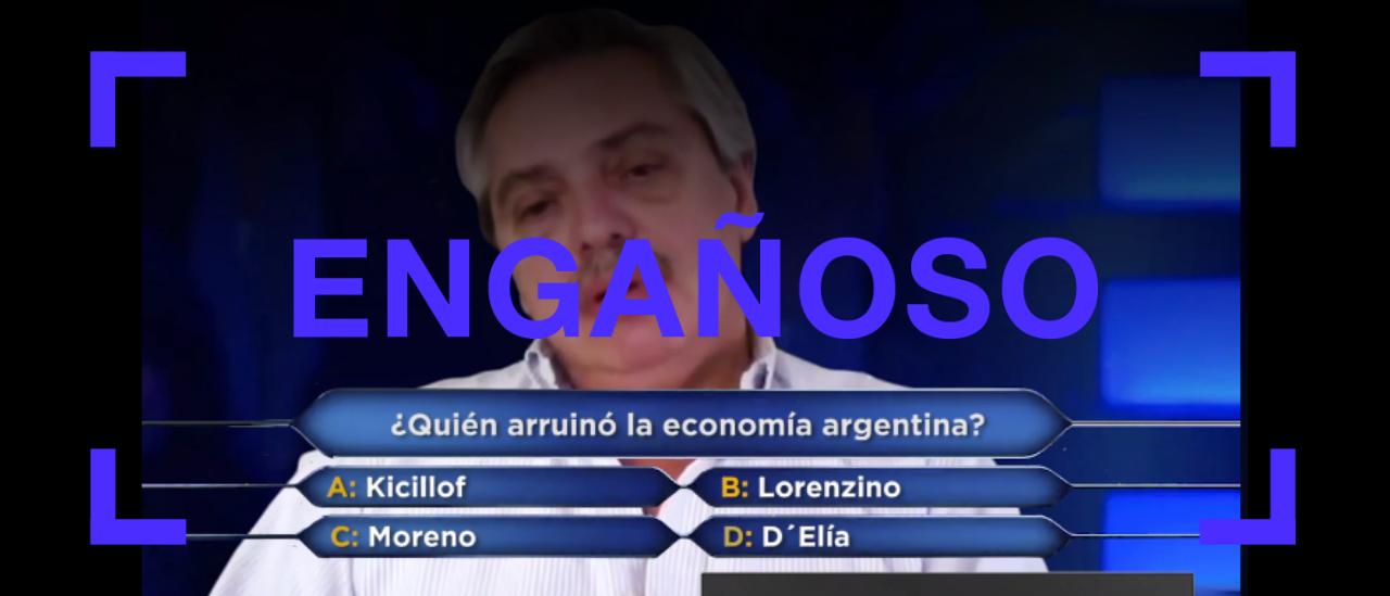 Este video está manipulado pero Alberto Fernández criticó así a Kicillof en 2014