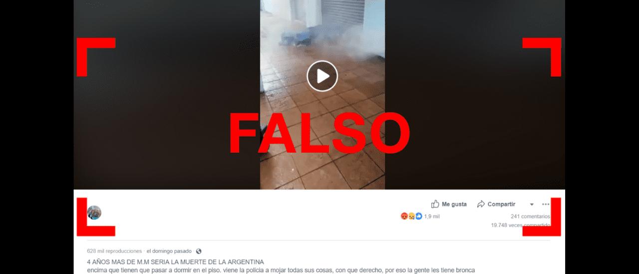 No, este video no fue filmado en la Argentina durante la gestión de Macri