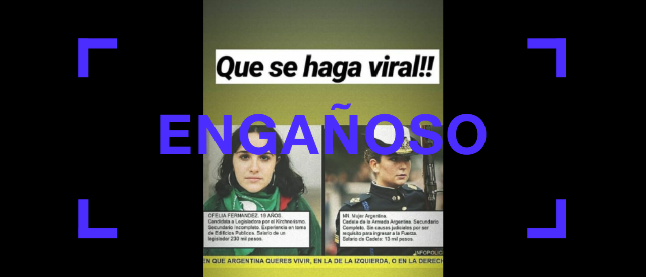 Ofelia Fernández: verdades y falsedades de un posteo que la compara con una cadete de las Fuerzas Armadas