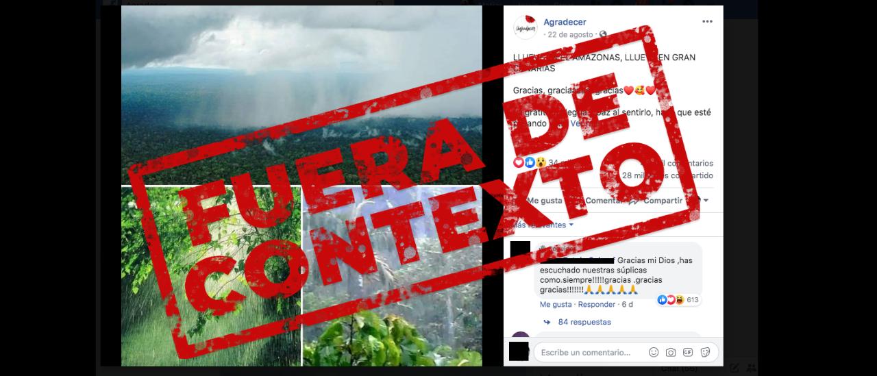 No, estas fotos de una selva con lluvia no son del Amazonas
