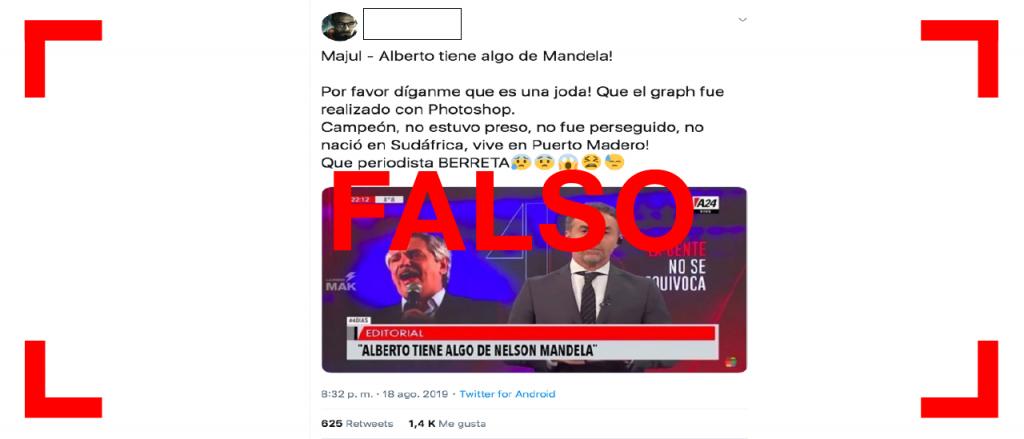 """No, Majul no dijo: """"Alberto tiene algo de Nelson Mandela"""""""