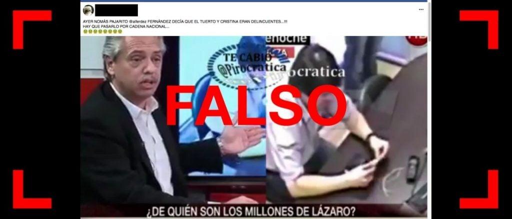 """Es falso que Alberto Fernández dijo en una entrevista que Néstor y Cristina Kirchner """"eran delincuentes"""", hablaba de Lázaro Báez"""