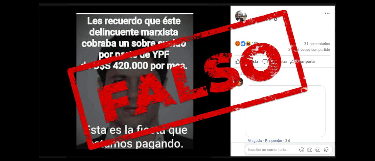 Una desinformación que vuelve: es falso que Kicillof cobraba un sobresueldo por estar en el directorio de YPF