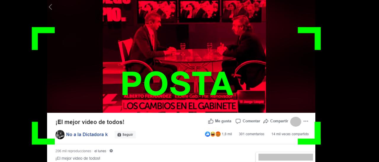 Es verdadero el video compilado donde Alberto Fernández critica la gestión de Cristina Fernández de Kirchner