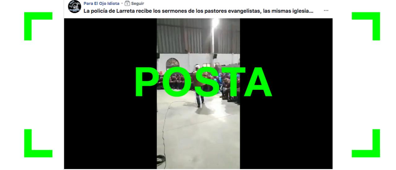 Es verdadero el video de un pastor evangélico dando una charla para los cadetes de la Policía de la Ciudad